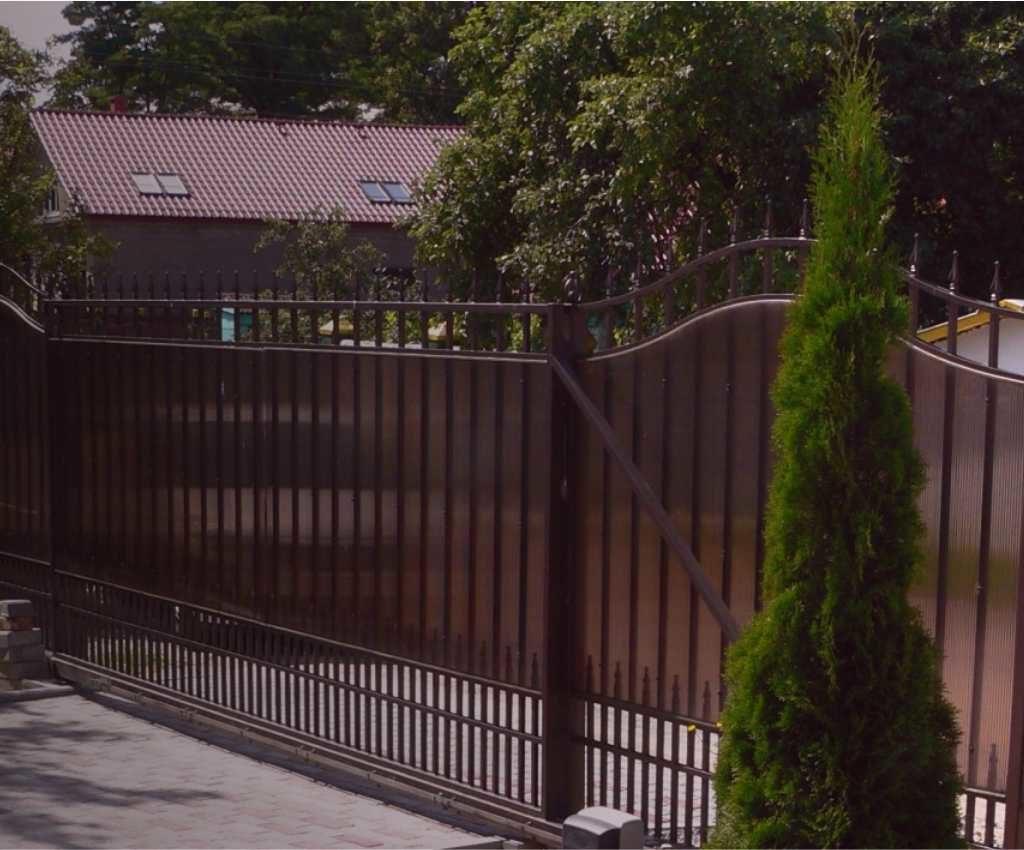 Забор из поликарбоната под ключ